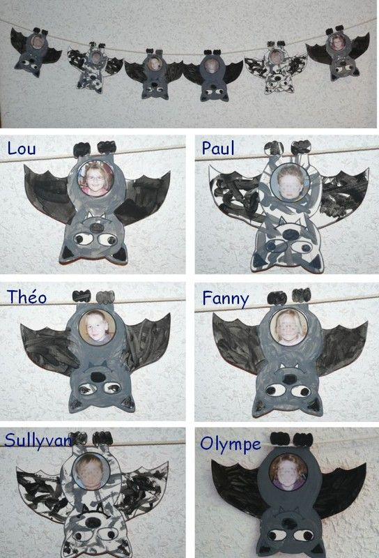 Chauve-souris porte photo | Boulot | Pinterest | Halloween kinder ...