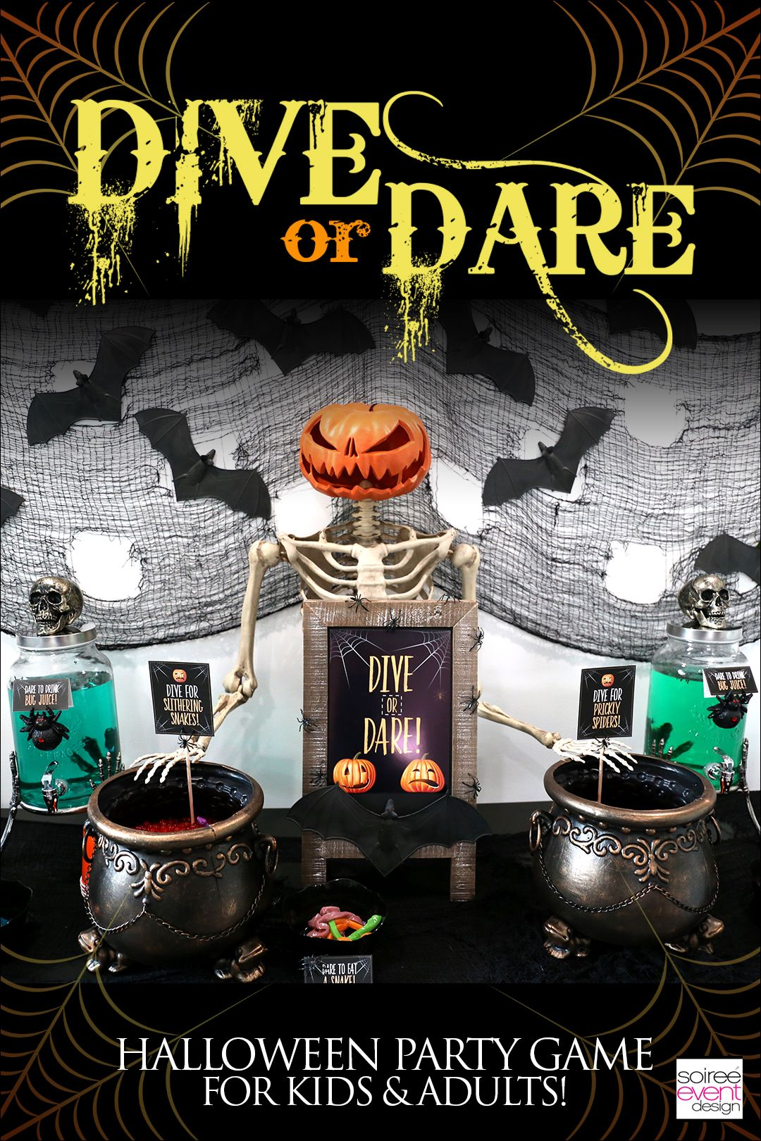 Halloween Party Games Dive or Dare! (With images