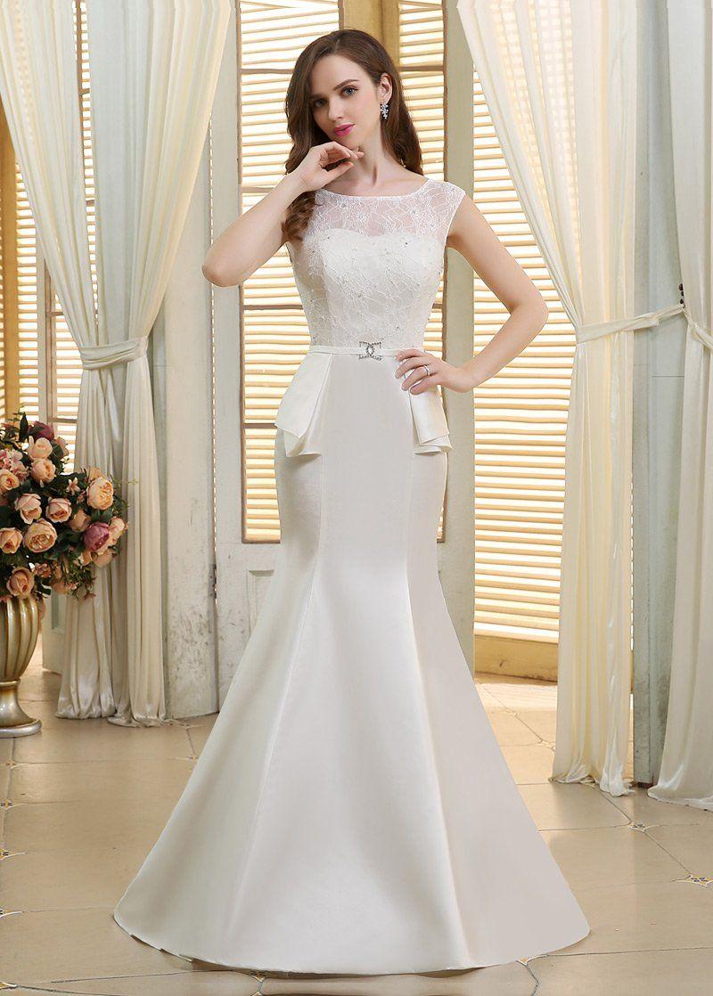28+ Silk scoop neck wedding dress ideas