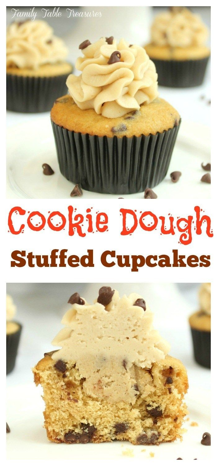 Cookie Dough Stuffed Cupcakes - Family Table Treasures