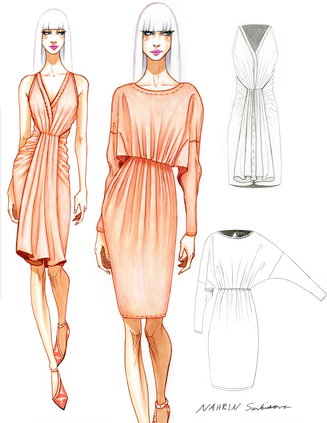 Design Illustration By Nahrin Sarkisova Otis Fashion
