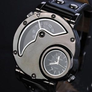 Image of Mens Watch Steampunk Wrist Mechanical Watch - Anniversary Gifts for Men (WAT0066-White)