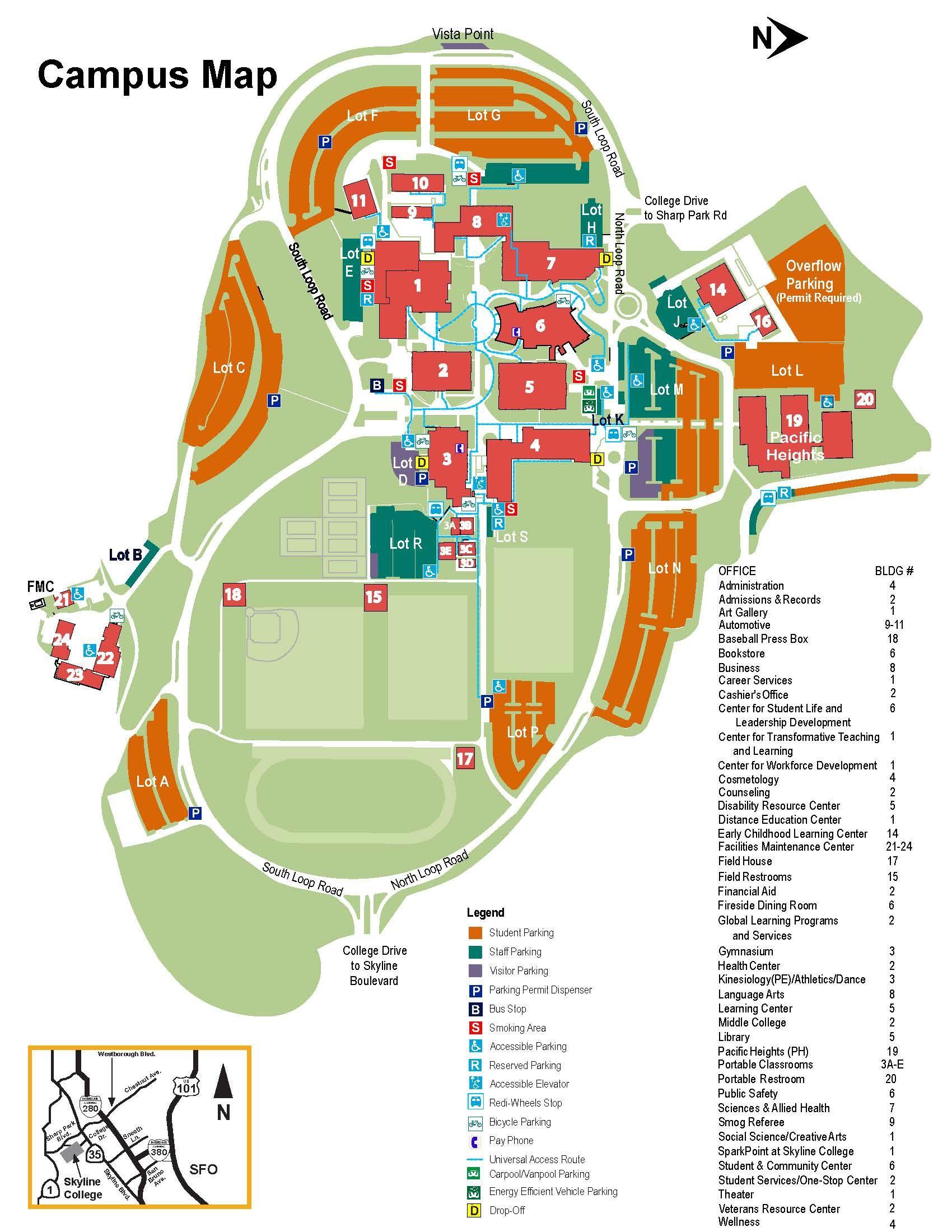 Skyline College Campus Map Map Design Pinterest Map Map
