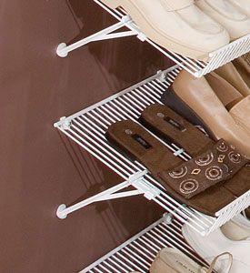 Plastic Shelf Bracket For Wire Shoe Rack In Closet Shelving