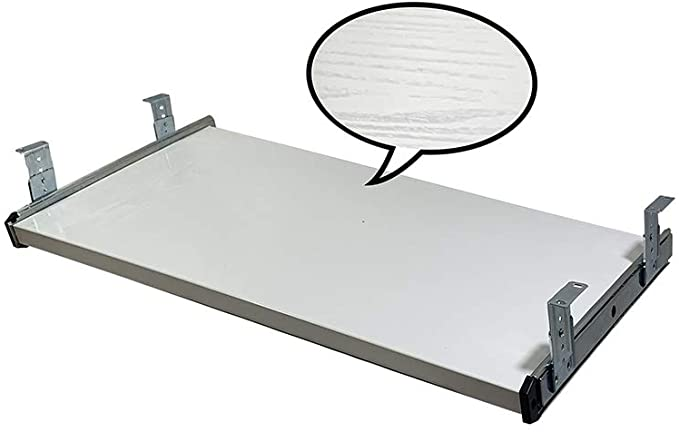 30 inches, White FRMSAET Furniture Accessories Office Product Suits Hardware 20//24//30 inches Keyboard Drawer Tray Wood Holder Under Desk Adjustable Height Platform.