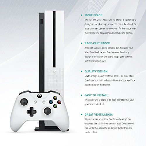 Lvl99gear Xbox One S Console Vertical Stand Click Image To