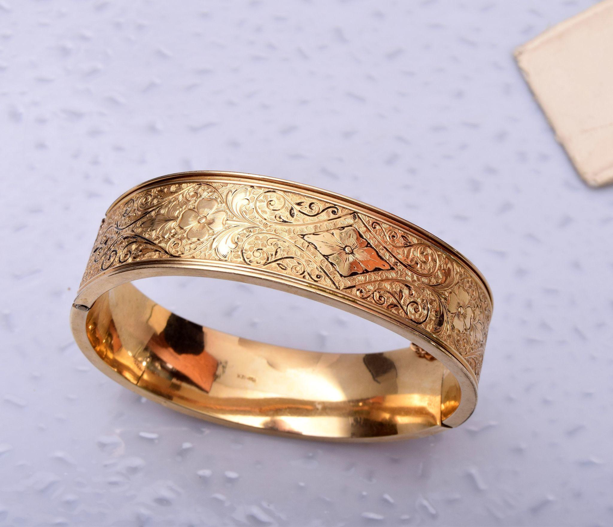 hinged wedding ring Winard 1 20 12kt Gold Filled Hinged Bangle Bracelet