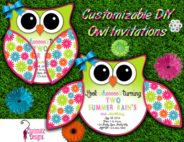 Free Diy Customizable Owl Invitation Printable Template By