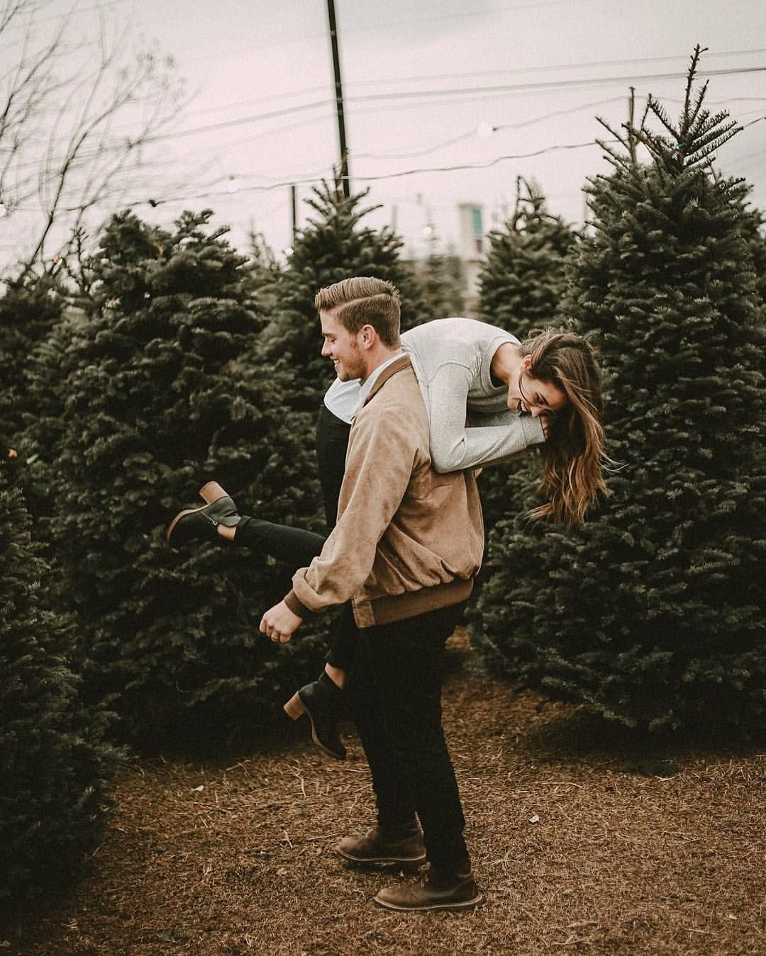 Date Day. Picking a tree, laughing. Hanging out. Want this with U.