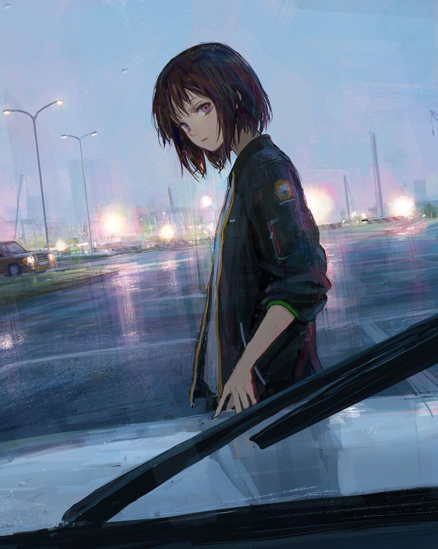 Awesome k t qu hinh nh cho anime girl short hair image for black