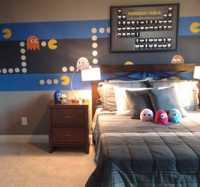 Creating A Video Game Themed Room Home Decorating Ideas With