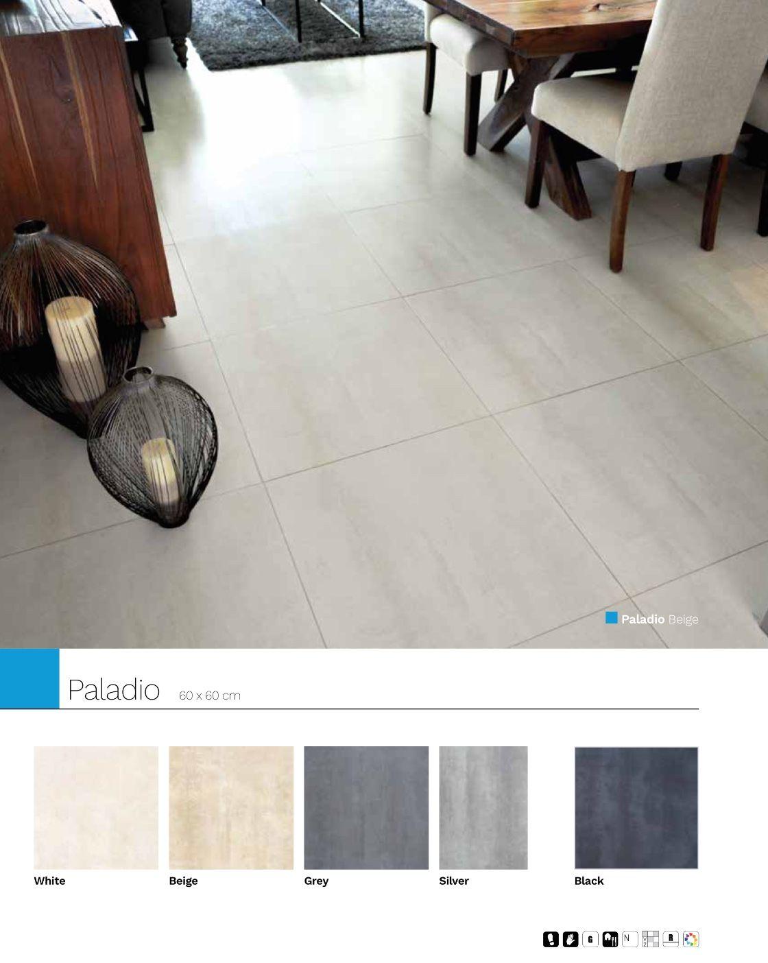 Paladio 60 x 60 cm Porcelánico rectificado piso y muro.