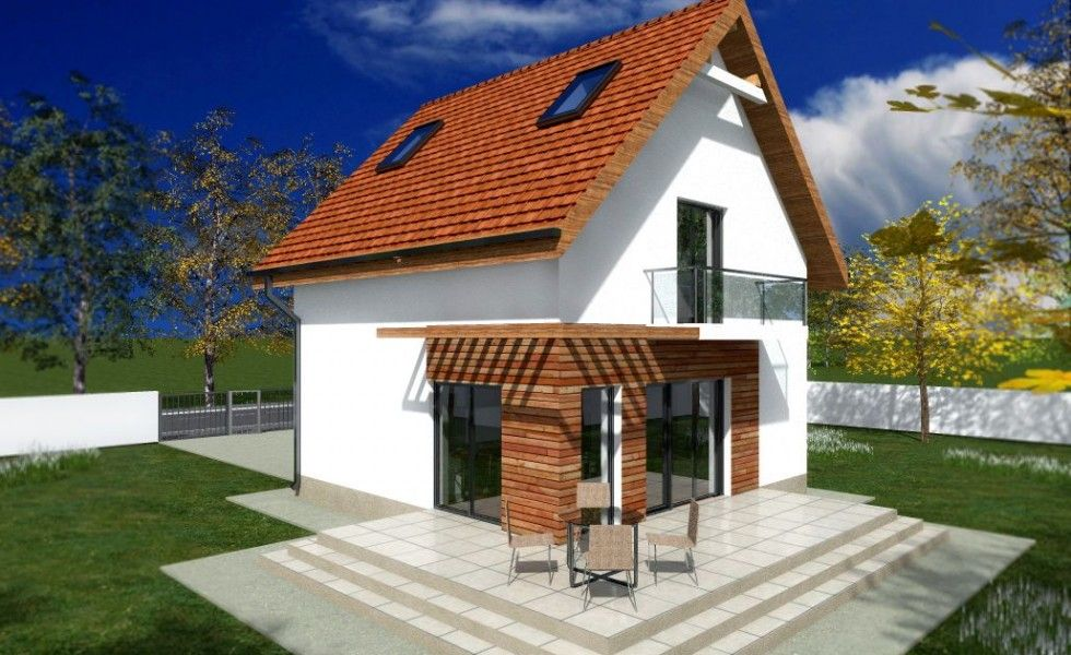 Proiecte De Case Mici Cu Etaj La Oras Small House Plans Concept Home House Plans