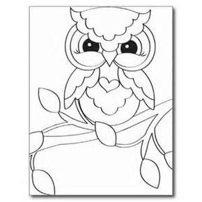 baby owl coloring pages bing images - Baby Owl Coloring Pages