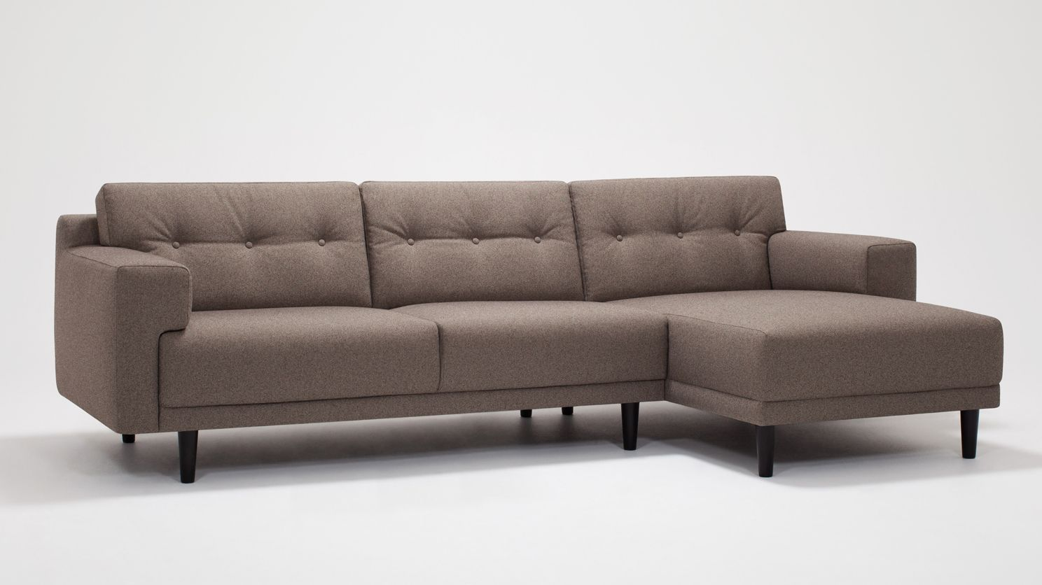 Remi 2 Piece Sectional Sofa With Chaise Fabric Eq3 Modern Furniture