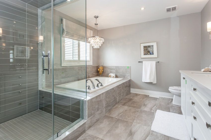 attractive bathroom with tub and shower - Bathroom With Tub