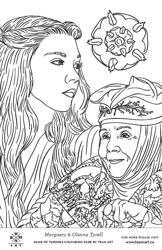we made some game of thrones colouring page freebies just in time for the season 4
