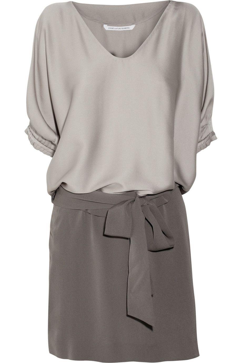 Diane von FurstenbergEdna stretch-silk satin and silk-crepe dress