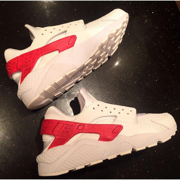 e8f3aaef81e1 Ruby Glitter Nike Air Huarache Glitter Strap Nike Huarache Unisex... ( 150)  ❤ liked on Polyvore featuring shoes