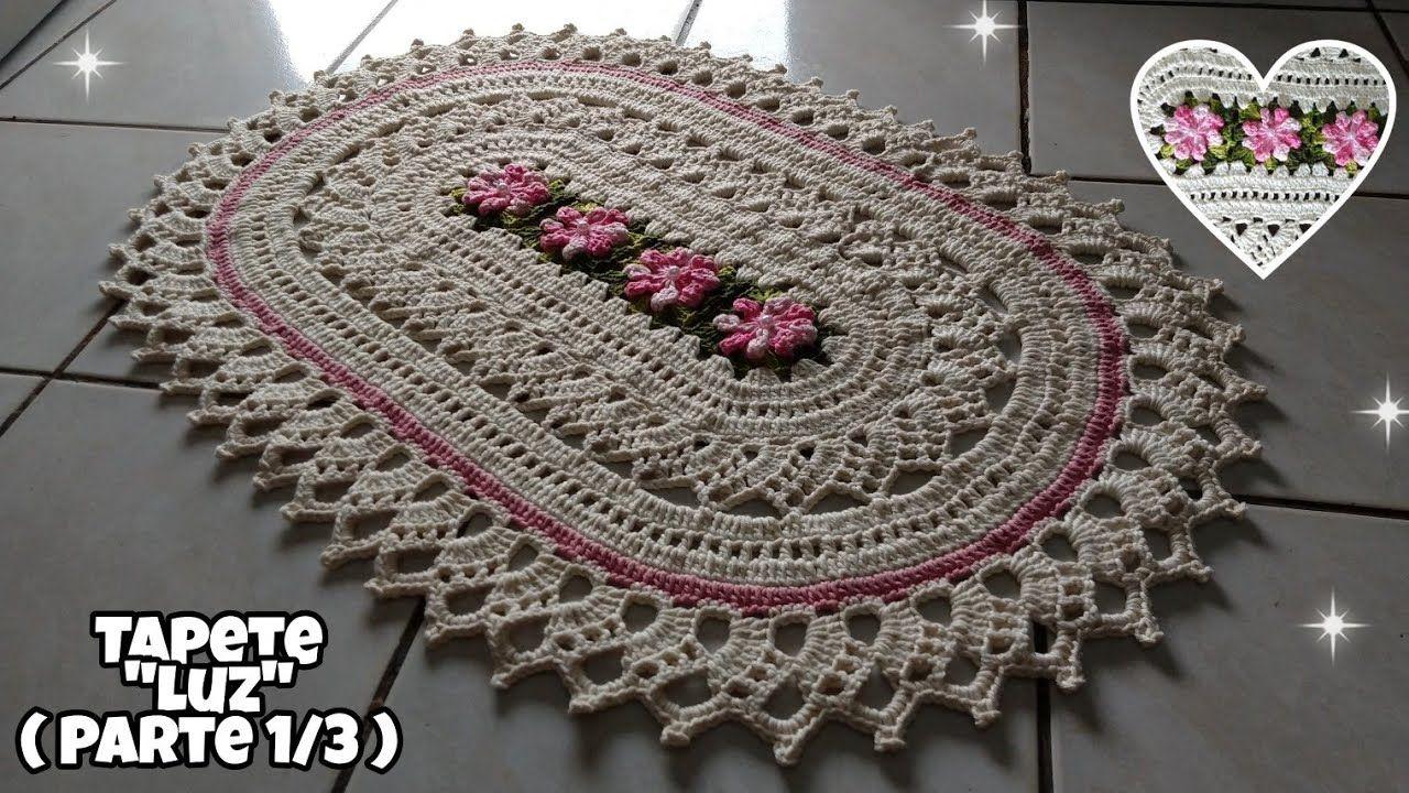 Tapete Luz (Parte 1 3)   Tapete oval com flores Mary Croche 89ffeb5385c