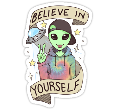 Photo of 'I Want To Believe' Sticker by Mar-on-Mars
