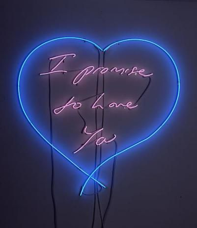 Tracey Emin - I promise to love you, 2010