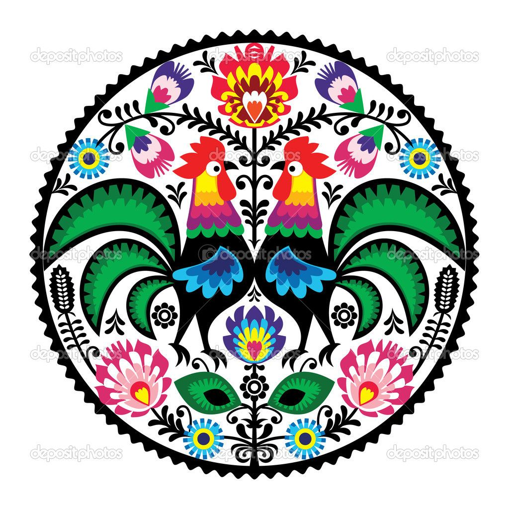 depositphotos_23054068-Polish-floral-embroidery-with-roosters---traditional-folk-pattern.jpg (1024×1024)
