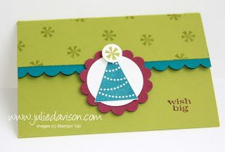 Julie's Stamping Spot -- Stampin' Up! Project Ideas Posted Daily: Birthday Double Pocket Gift Card Holder