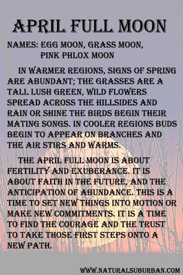 April Full Moon Meaning The Sorceress Pinterest April Full