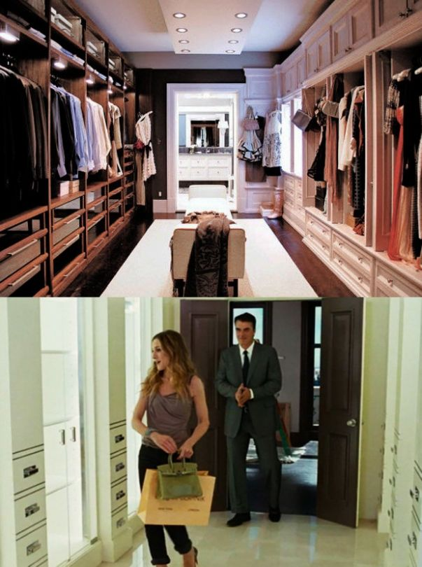 the best walk in wardrobes from films sex and the city and sex and the city 2 the movieswe. Black Bedroom Furniture Sets. Home Design Ideas
