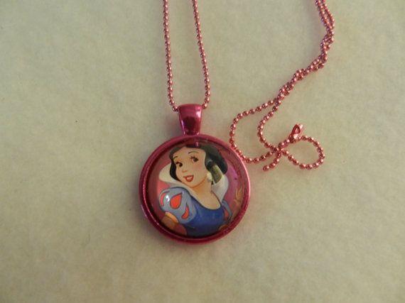 A cute Snow White Princess glass cabochon by JnJHandmadeGifts, $8.00