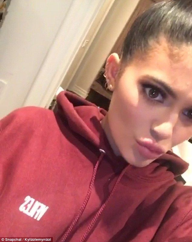 Kylie Jenner Licks Her Lips And Puckers Her Mouth In Bizarre