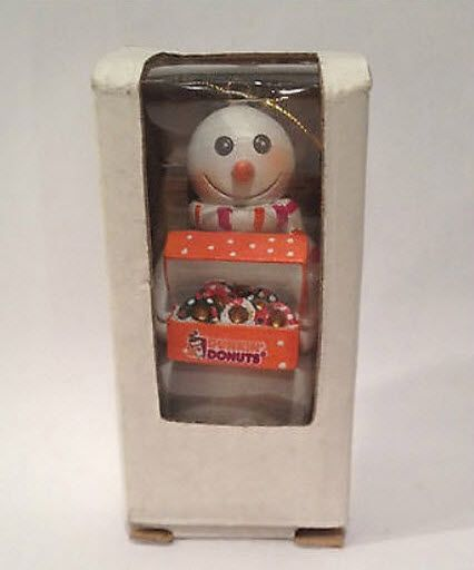 2009 Snowman Carrying a Box of Dunkin Donuts Ornament from Dunkin Donuts - 2009 Snowman Carrying A Box Of Dunkin Donuts Ornament From Dunkin