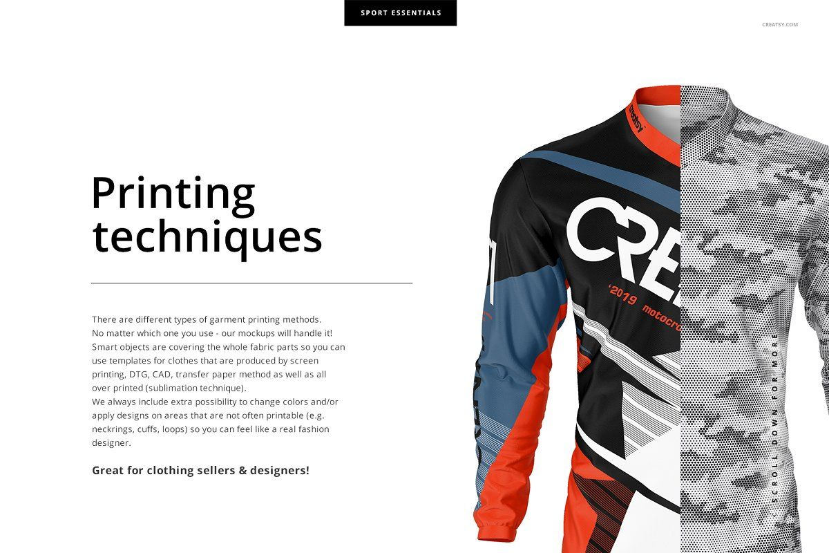 Download Ad: Motocross Jersey Mockup Set by creatsy5 on ...