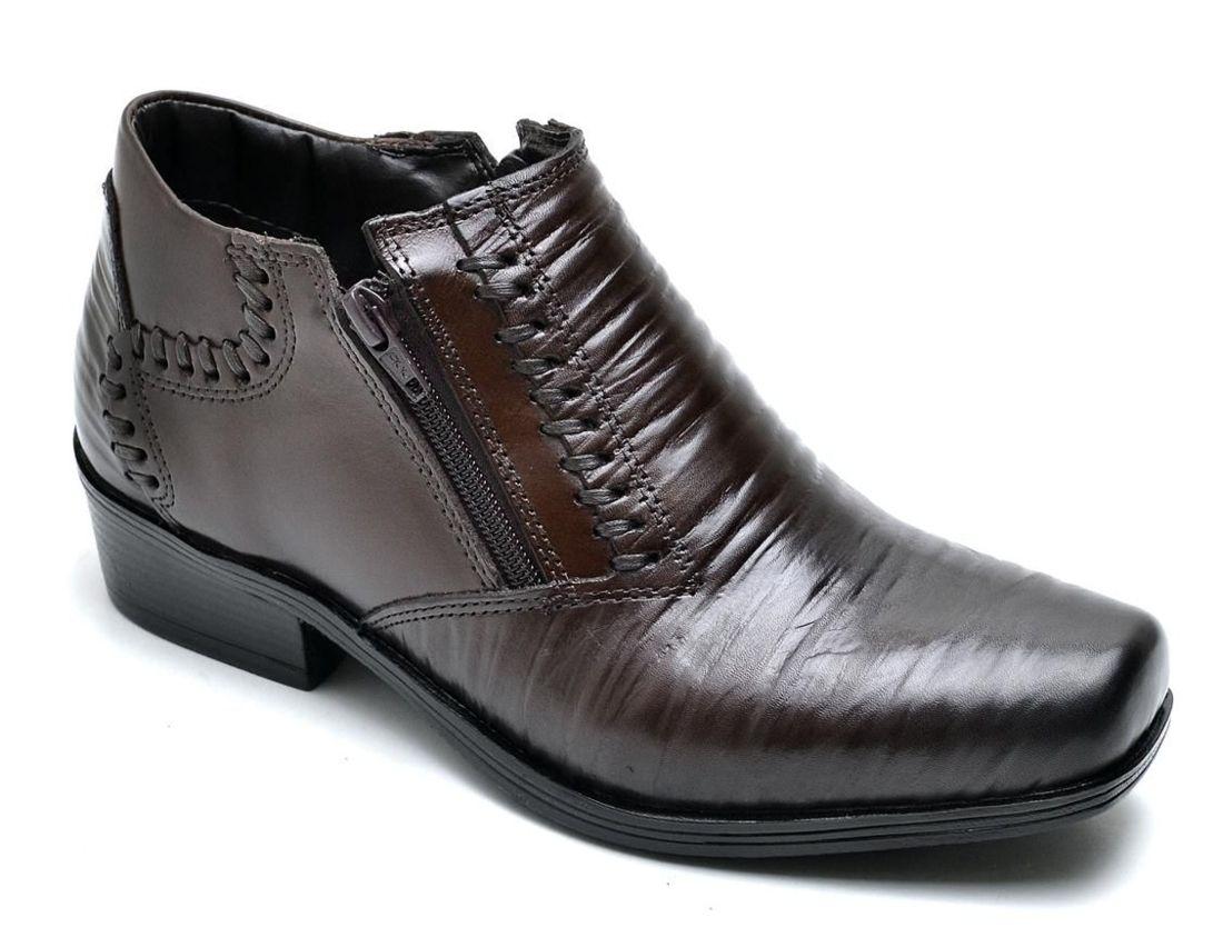 Bota Social Sobotas Couro Marrom | Sapatos formais, Botas e