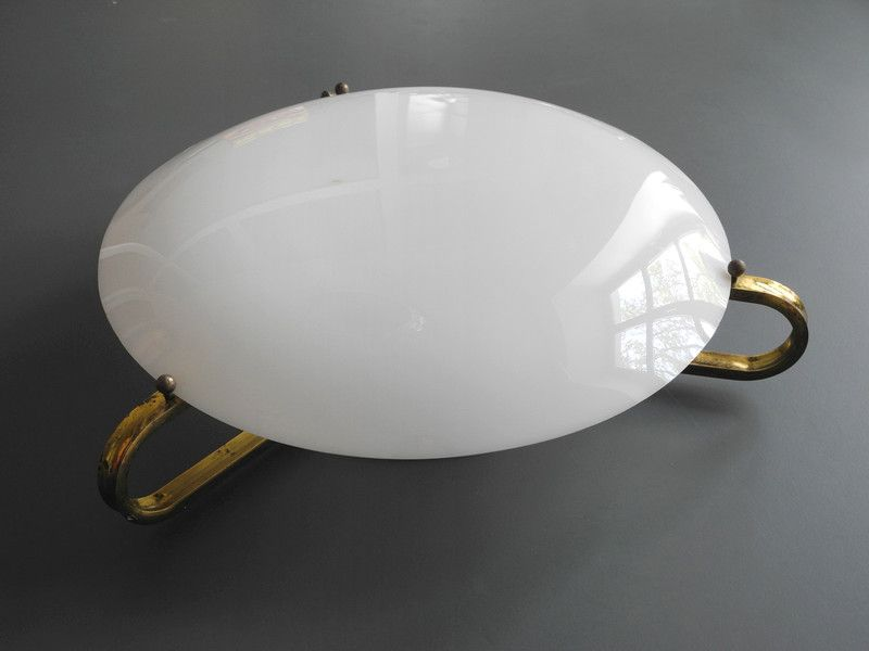 Vintage Deckenlampen 40er Messing Plexiglas Decken Und Wandlampe