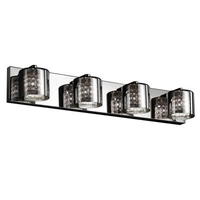 4 light chrome vanity light with tinted glass - Home Decorators Collection Lighting