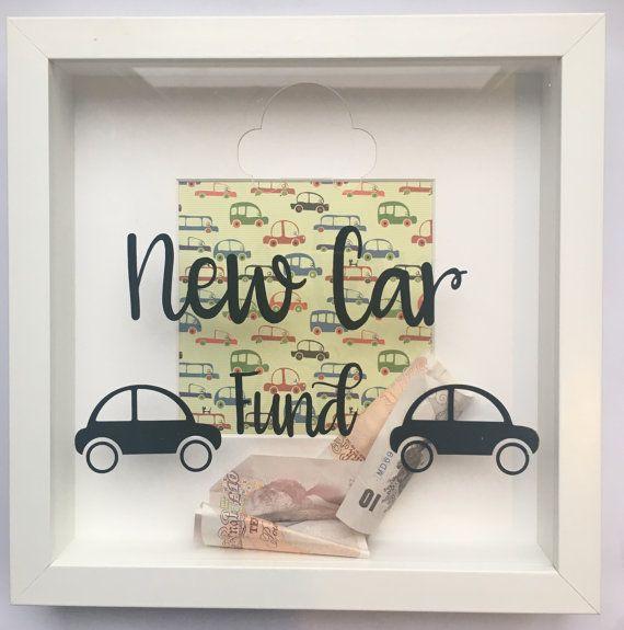 New Car Vehicle Savings Money Box Fund Frame Jar Funky