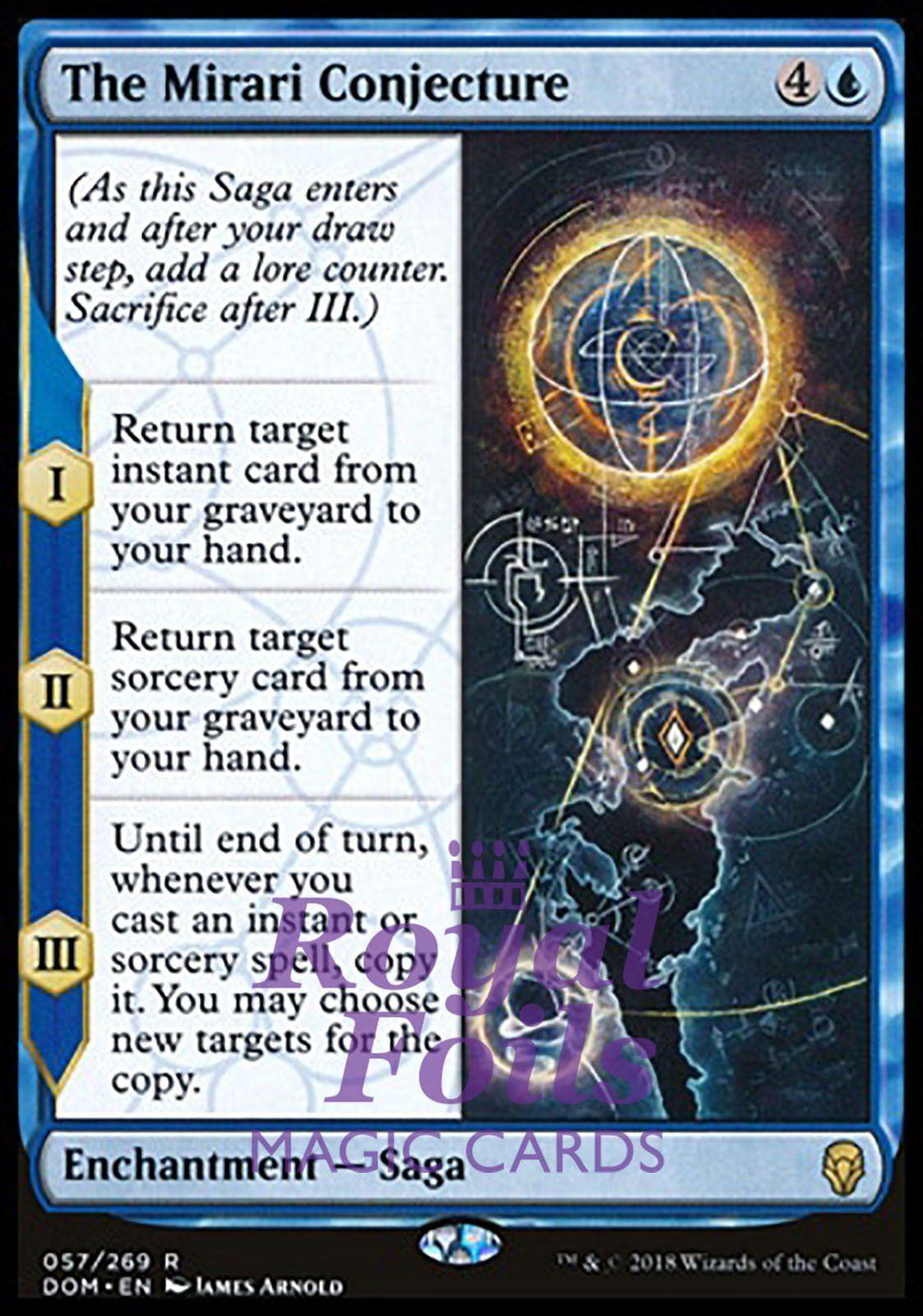 4x NM-Mint kaartspellen English Regular The Mirari Conjecture R Dominaria Magic Mtg