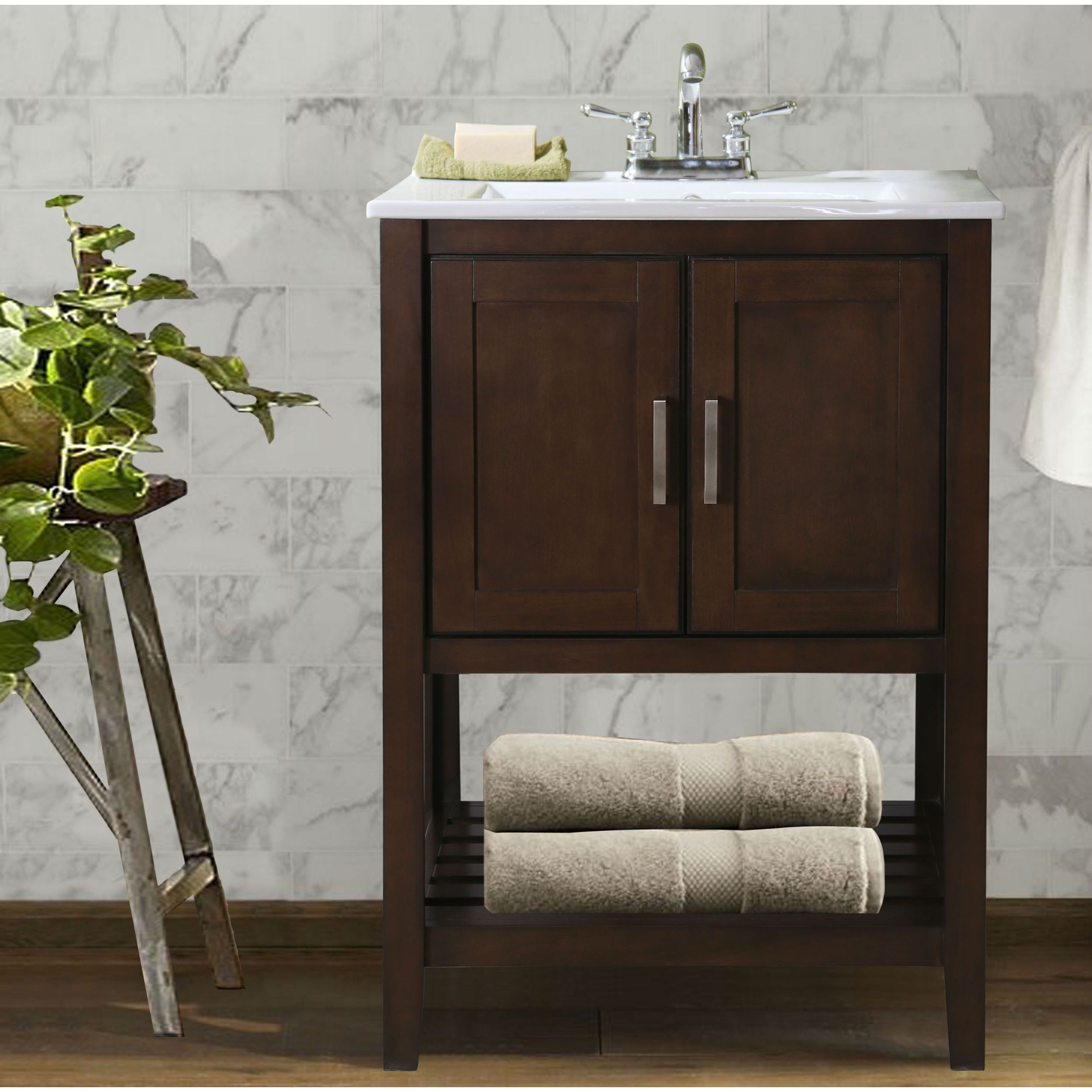 Superbe Legion Furniture Traditional Single Sink Bathroom Vanity (Coffee Finish,  Faucet Not Included),