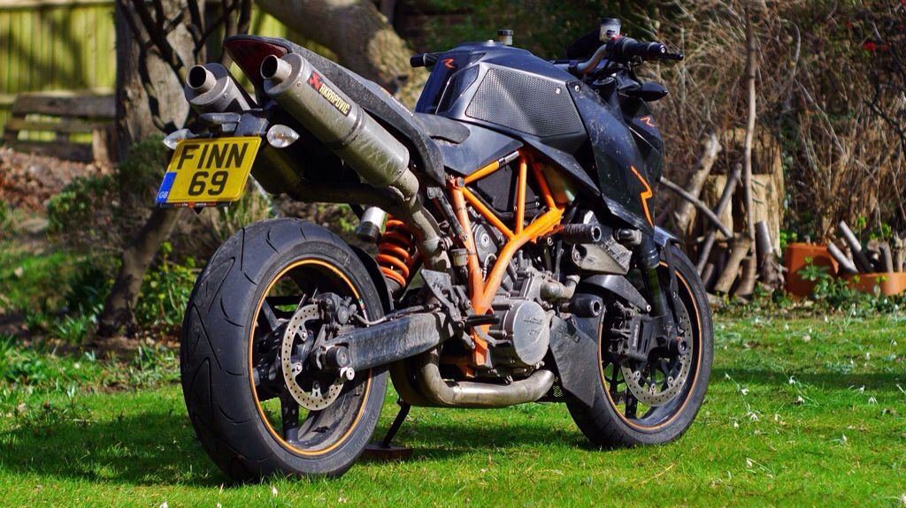 My first love, my first 1000cc motorcycle. The KTM 990
