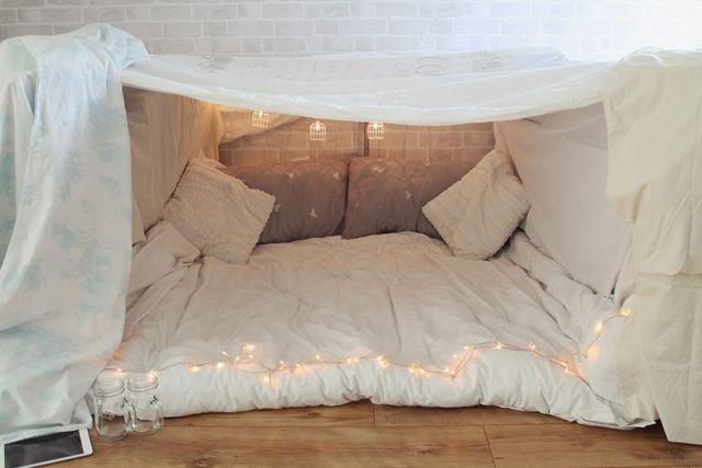 We Did An Indoor Fort Little Winter Sleepover Room Indoor