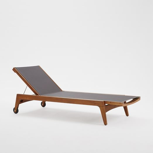 outdoor furniture west elm. Mid-Century Outdoor Lounger - Auburn | West Elm Furniture G