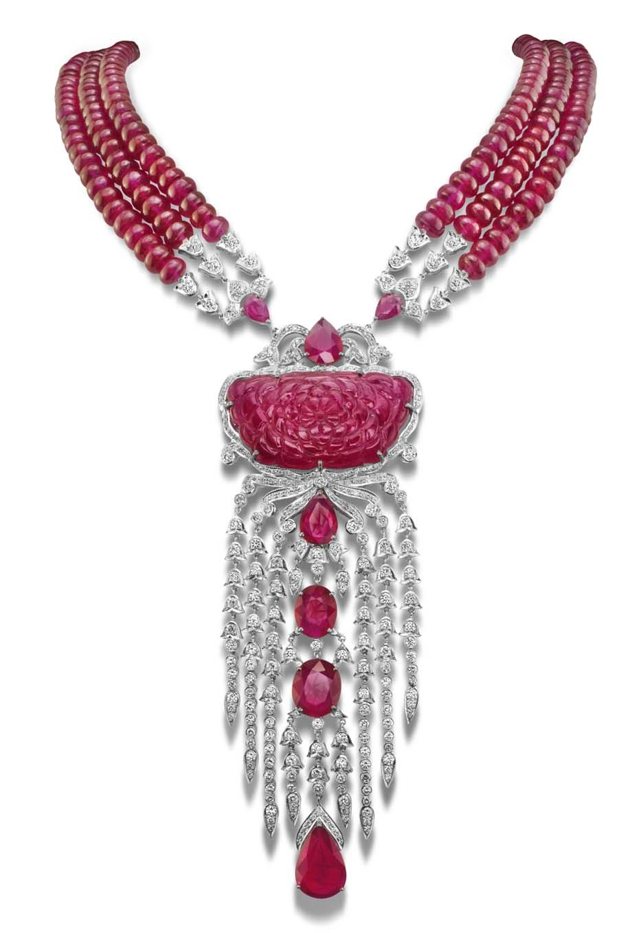 Best of ruby jewellery and watches rose necklace white gold