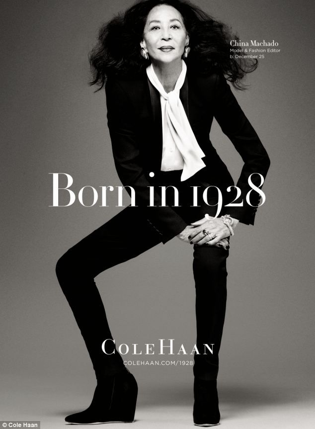 To be 85 and starring in a major fashion label's campaign is nothing short of remarkable.  It is also a stroke of genius on the part of Cole Haan to mark its 85th anniversary with a series of images of people also born in 1928. And 1928 was a winning year, it seems. The luxury accessories label shares its birth year with legendary poet and author Dr Maya Angelou, Apollo 13 astronaut Captain Jim Lovell, acclaimed photographer Elliott Erwitt.