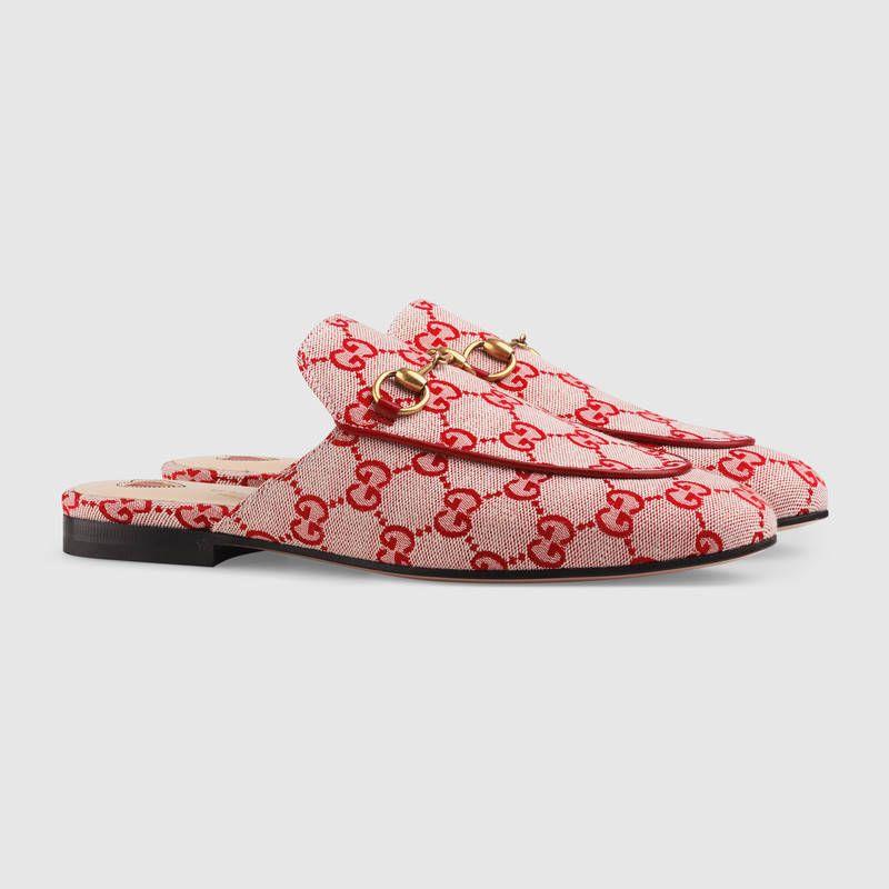 49cc6bd8cc9 Gucci - Princetown GG canvas slipper (€ 595)