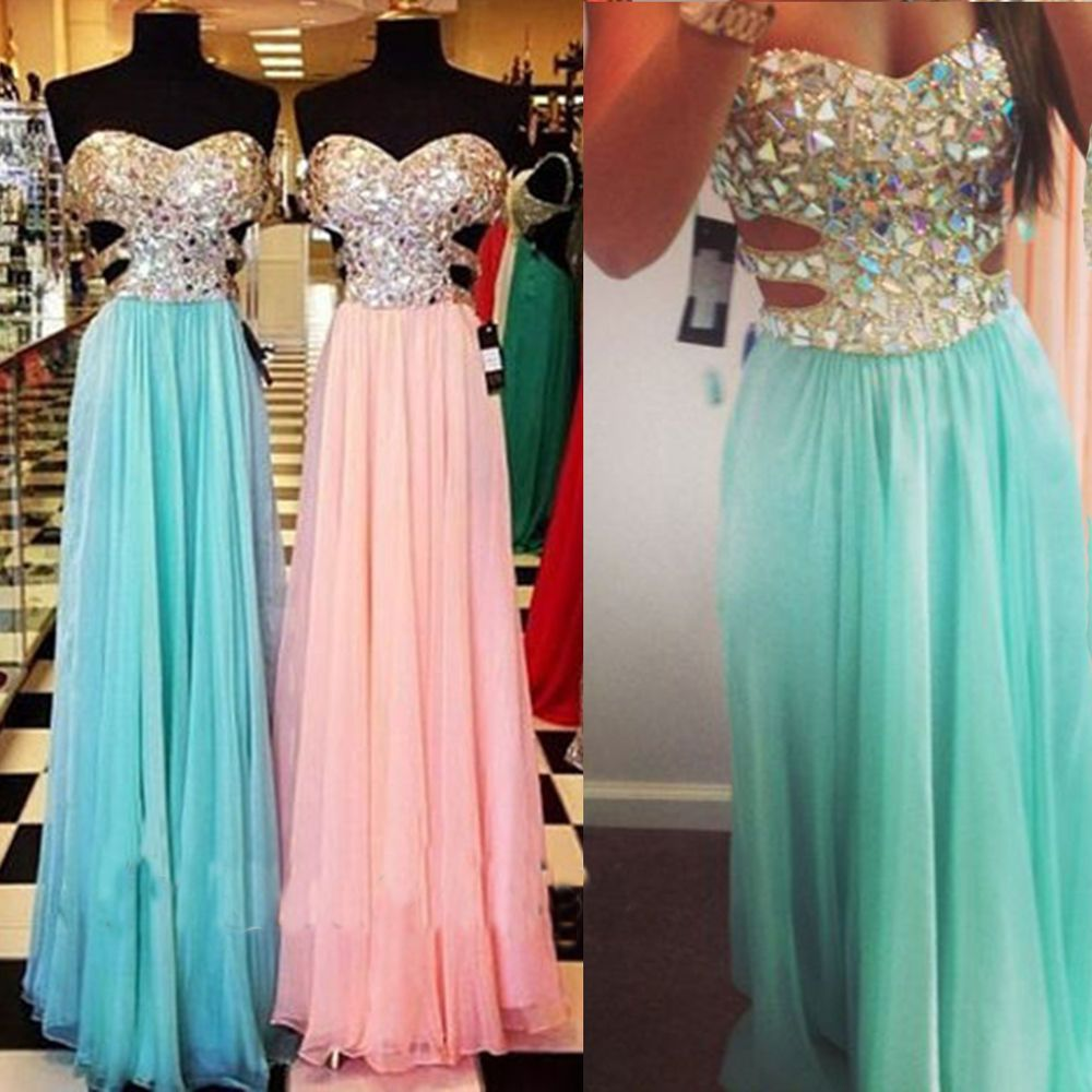 new light green beaded floorlength slim chiffon prom dress
