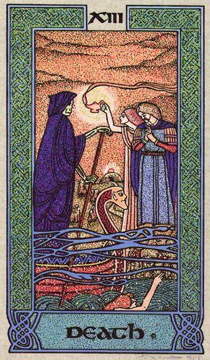 XIII. Death - Celtic Tarot by Courtney Davis & Helena Paterson
