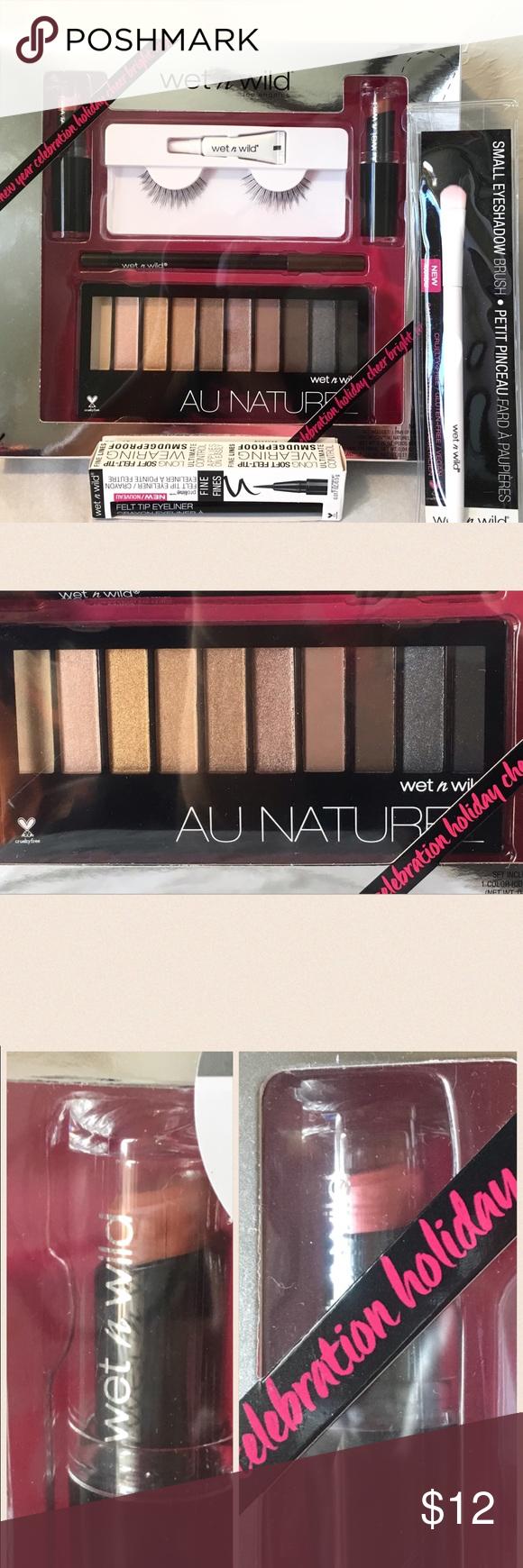 Wet N Wild Au Naturel Gift Set Eyeliner Brush New Palette