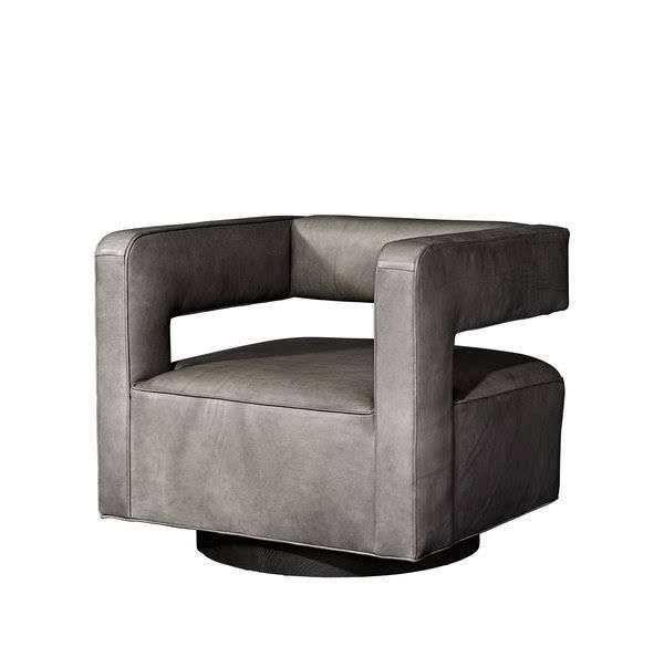 Drew leather swivel chair in smoke Italian Milano leather; $3995.  sc 1 st  Pinterest & Drew leather swivel chair in smoke Italian Milano leather; $3995 ...